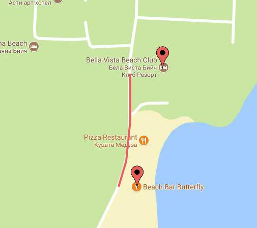 Beach Bar Butterfly map